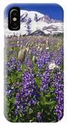 Purple Flowers Blooming Beneath Mount IPhone Case
