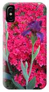 Purple Iris In Pink  IPhone Case