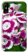 Purple On White Flowers IPhone Case