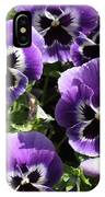 Purple Pansies Square IPhone Case