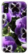 Purple Pansies Square IPhone Case
