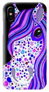 Purple Spotted Horse IPhone Case