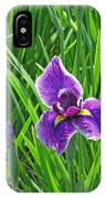Purple Water Iris IPhone Case
