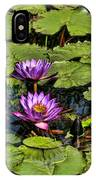 Purple Water Lilies - Nymphaea Capensis  IPhone Case