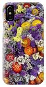 Purple Yellow Orange White Cut Flowers IPhone Case