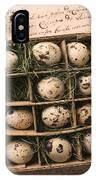 Quail Eggs In Box IPhone Case