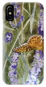 Queen Of Spain Fritillary And Lavender II IPhone Case