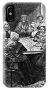 Quilting Party, 1864 IPhone Case