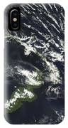 Rabaul Volcano On The Island Of Papua IPhone Case