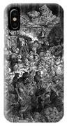 Rabelais: Gargantua And Pantagruel.  Illustration Of The Life Of Gargantua And Of Pantagruel By Fran�ois Rabelais. Wood Engraving, 1873, After Gustave Dor� IPhone Case
