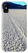Racetrack Death Valley Trail Of Mystery IPhone Case