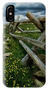 Rail Fence No.1812 IPhone Case