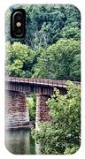 Railroad Bridge At East Falls Philadelphia IPhone Case