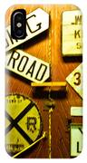 Railroad Talk IPhone Case