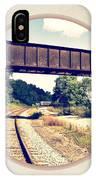 Railroad Tracks And Trestle IPhone Case