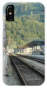 Railway Station West Interlaken Switzerland IPhone Case
