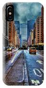 Rain On Park Avenue IPhone Case