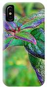 Raindrops On The Leaves IPhone Case