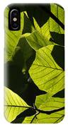 Rainforest Leaves Showing Sunlight IPhone Case