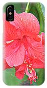 Rainy Day Hibiscus IPhone Case