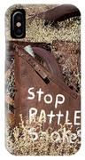 Rattlesnake Warning IPhone Case