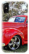Red 1940 Ford Deluxe Coupe IPhone Case