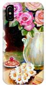 Red And Pink Roses And Daisies - The Doves Of Peace-angels And The Bible IPhone Case