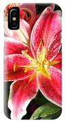 Red And White Tiger Lily IPhone Case