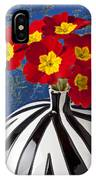 Red And Yellow Primrose IPhone Case