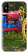 Red And Yellow Tractor IPhone Case