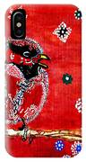 Red Bird On A Branch IPhone Case