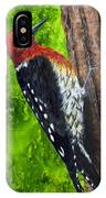 Red Breasted Sapsucker IPhone Case