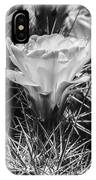 Red Cactus Flower Bw IPhone Case