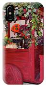 Red Cart Of Flowers IPhone Case