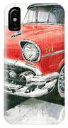 Red Chevrolet 1957 IPhone Case