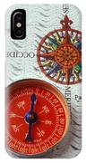 Red Compass And Rose Compass IPhone Case
