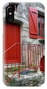 Red Door In Laroche Bernard IPhone Case