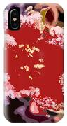 Red Flower With Frost IPhone Case