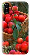 Red Fresh Plums In The Basket IPhone Case