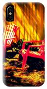 Red Garden Chairs IPhone Case