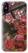 Red Grape Leaves And Beams IPhone Case