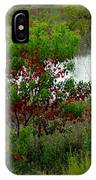 Red In Green IPhone Case