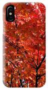Red Leaves Black Branches IPhone Case