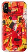 Red Orange Abstract IPhone Case