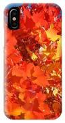 Red Orange Yellow Autumn Leaves Art Prints Vivid Bright IPhone Case
