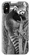 Red Panda 2 Monochrome IPhone Case