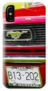 Red Pony Car IPhone Case