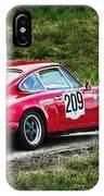 Red Porsche Running Away IPhone Case