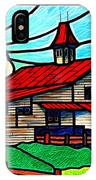Red Roof Barn On Osceola Springs Road IPhone Case