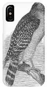 Red-shouldered Hawk, 1890 IPhone Case